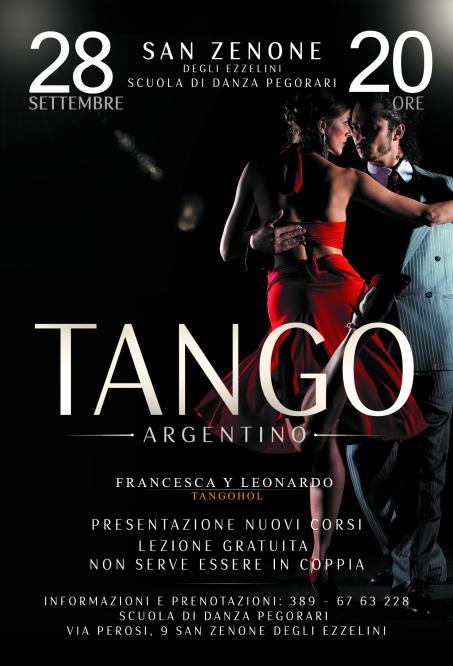 Il 28 Settembre alle ore 20 a San Zenone Presentazione Corsi e Lezione Gratuita di Tango Argentino. (non serve essere in coppia)